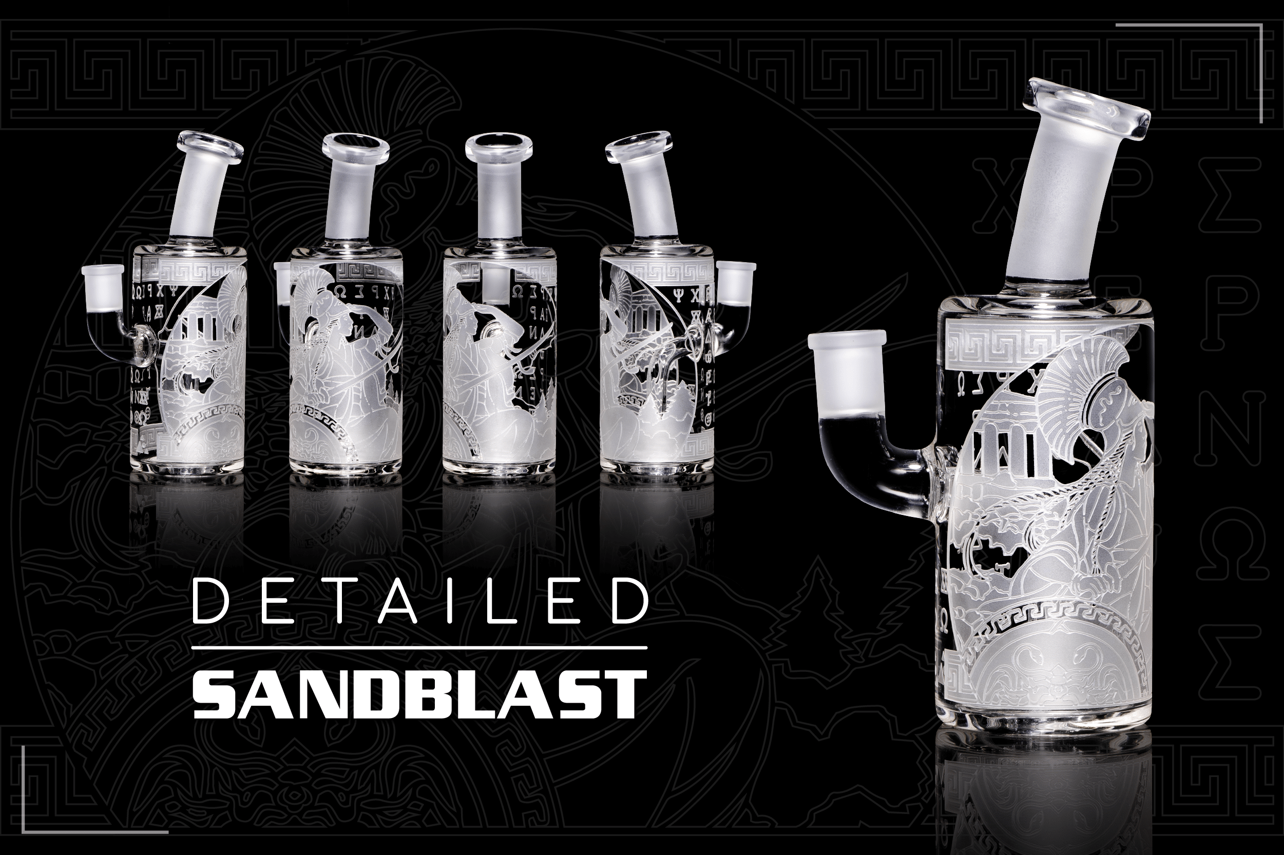 Milky Way Glass - Unique Sandblasted and etched smoking accessories